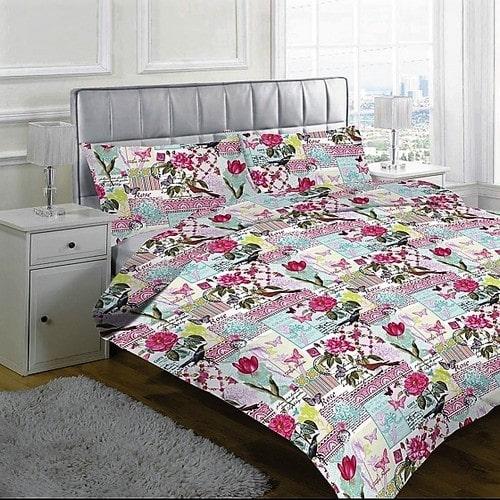 Ágynemű Rózsaszín Virágokkal