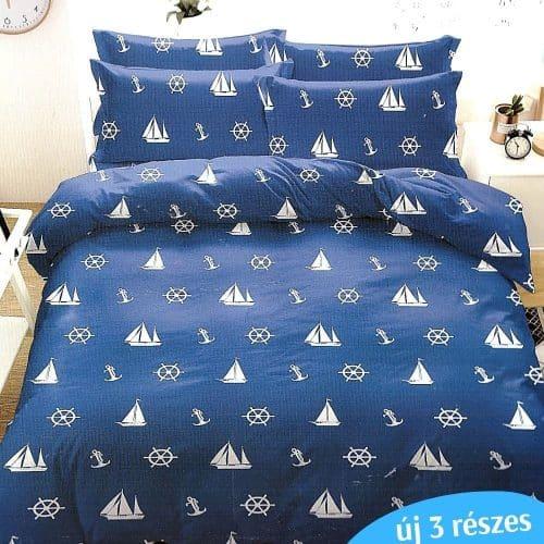 Ágyneműhuzat Kék Fehér Hajókkal