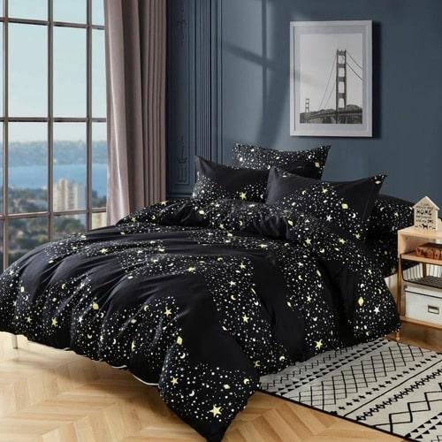 Ágynemű Fekete Arany Csillagokkal