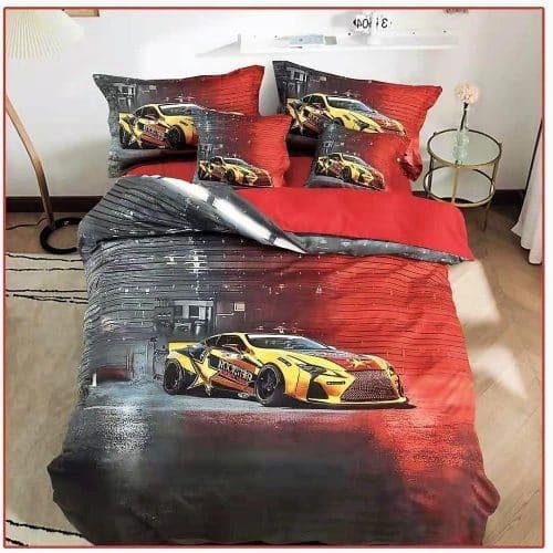 Ágynemű Sárga Piros Sportkocsi