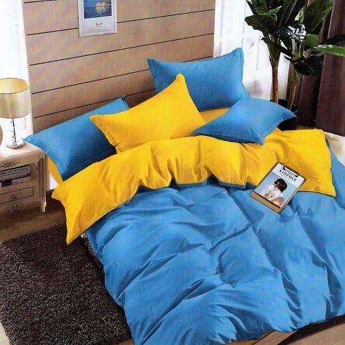 Ágynemű Kék Sárga Egyszínű