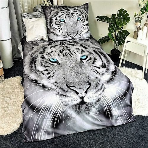 Ágynemű Fekete Szürke Tigris