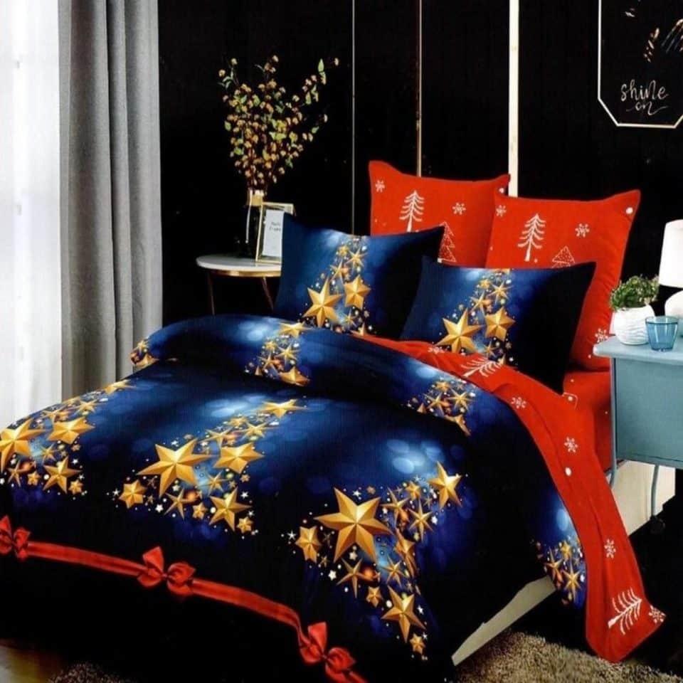 Ágynemű Kék Arany Karácsony