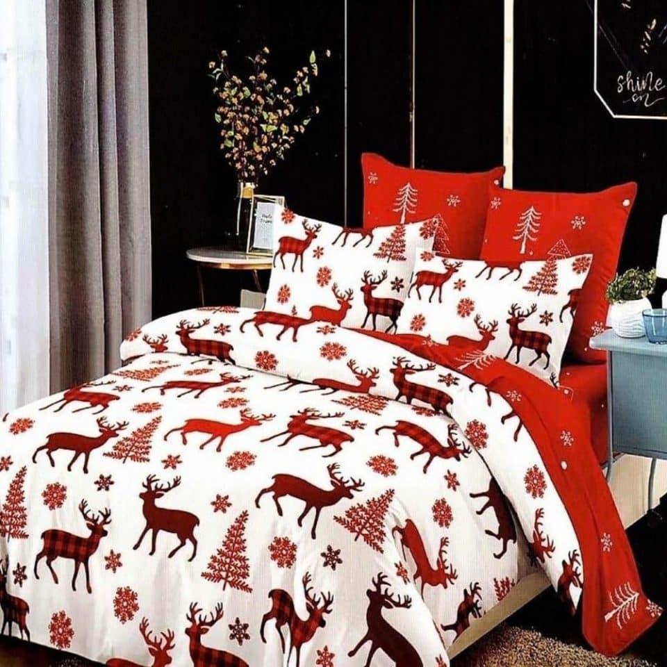 Ágynemű Piros Fehér Karácsony