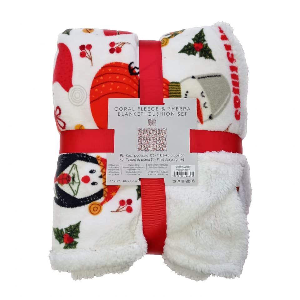 Takaró Fehér Karácsonyi Minta