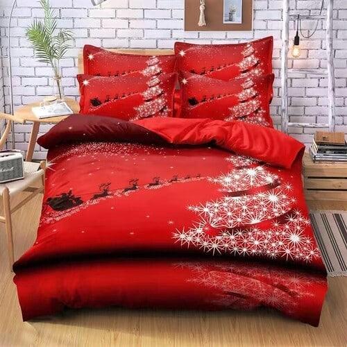 Ágynemű Piros Karácsonyos